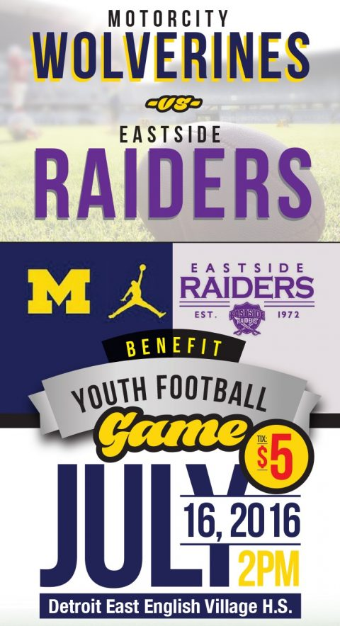 Detroit's First 2016 Youth Football Benefit Game